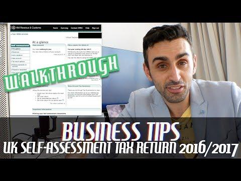 UK Tax Return for 2016/2017/2018 Walkthrough | Full-Time & Self-Employed Freelancer