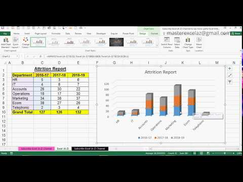 How to Create 3D Stacked Column Chart in MS Office Excel 2016