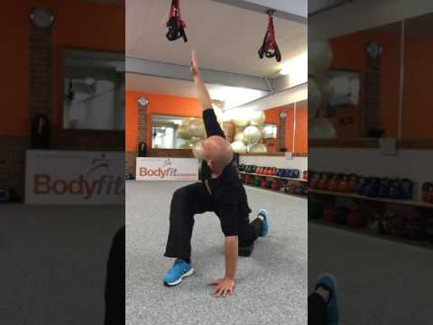 Unlock tight hips and Thoracic spine rotation. Sit at a desk your body will love this!