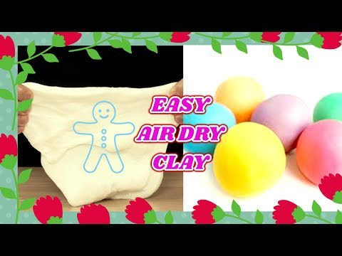 EASY AIR DRY CLAY RECIPE NO COOKING