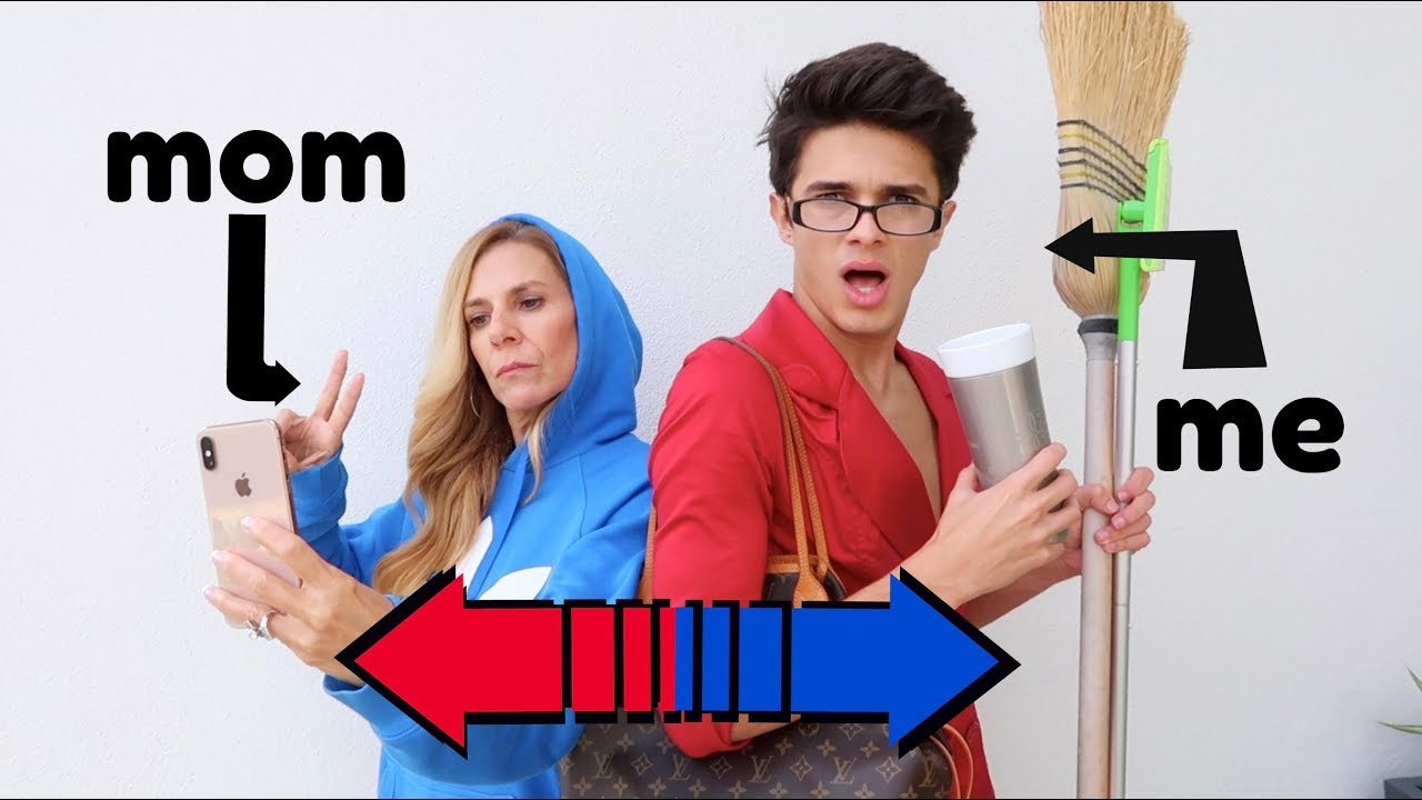 SWITCHING LIVES WITH MY MOM! | Brent Rivera