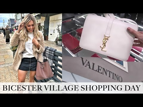COME LUXURY SHOPPING! NEW BICESTER VILLAGE DESIGNER OUTLET HAUL! Burberry, YSL, Valentino, Gucci