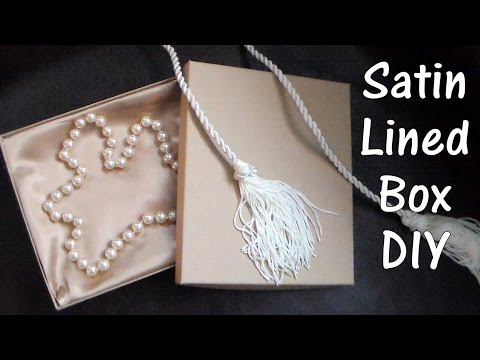 How to line a box with satin fabric