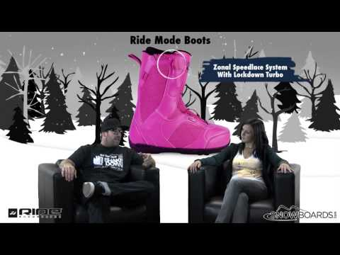 2013 Ride Mode SPDL Womens Snowboard Boots Review By Snowboards.com