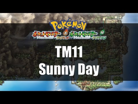 Pokemon Fire Red & Leaf Green | Where to find TM11 Sunny Day