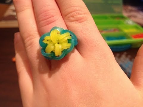 HOW TO: MAKE A RAINBOW LOOM COLOURFUL STARBURST RING