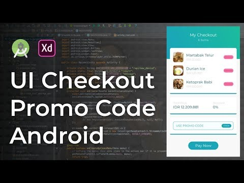 Checkout UI Animation Adobe Xd to Android Studio Tutorial