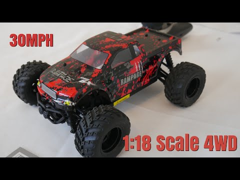 IAMGlobal RC 1:18 Scale 4 WD Monster Truck Fast 30MPH | 20 minutes Drive Time