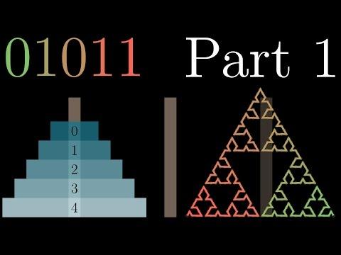 Binary, Hanoi and Sierpinski, part 1