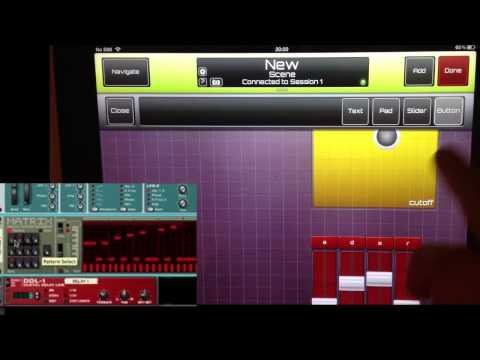 Reason controlled by Sonic Logic iPad MIDI Controller