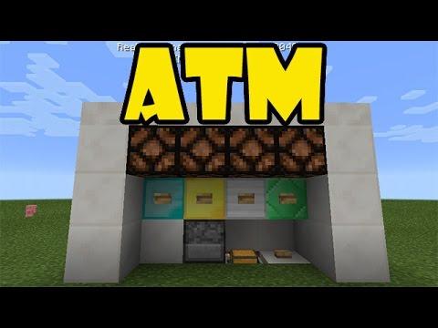 ATM TUTORIAL   Minecraft PE Redstone Contraption