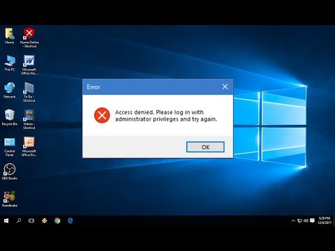 How to Fix Access Denied  Please log in with Administrator in Windows PC