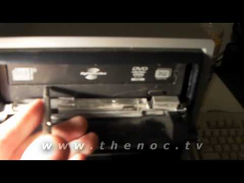 How to manually open a CD or DVD drive.