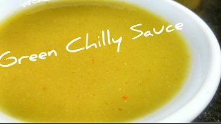 Green Chilli sauce recipe │ Simple and easy