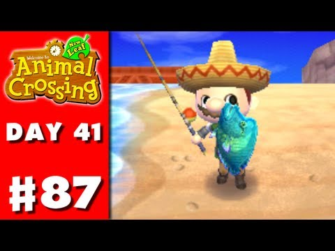 Animal Crossing: New Leaf - Part 87 - New Big Fish (Nintendo 3DS Gameplay Walkthrough Day 41)
