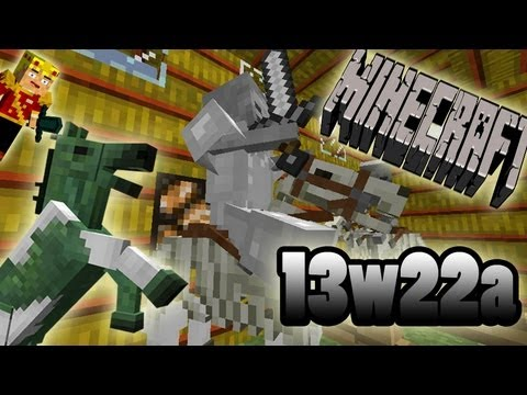 MineCraft 1.6 SnapShot 13w22a Horse Sounds, Undead Horses, Knights!