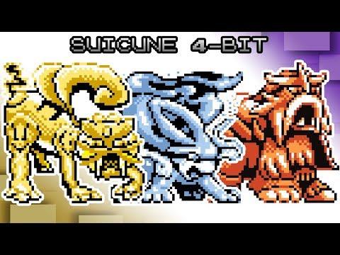 Pokemon Red, Blue and Yellow - Battle! Suicune Entei Raikou Music [4bit]