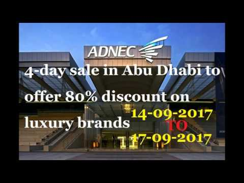 Abudhabi 4-day sale to offer 80% discount on luxury brands