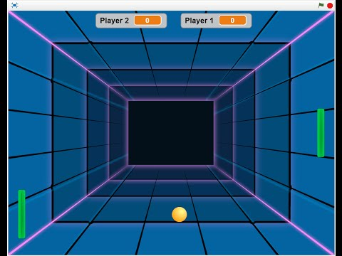 Scratch Pong Tutorial 9 - Press Space to Start