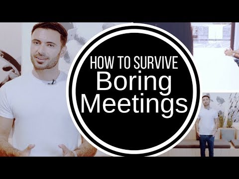 How to Survive and Stay Awake at Boring Meetings (don't sleep at work or at a class)