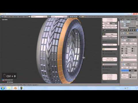 modelling a tire quick in blender