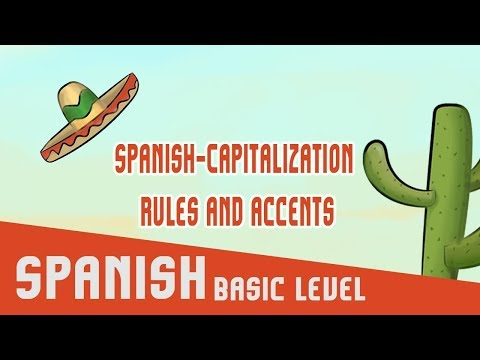 Spanish: Capitalization rules and accents