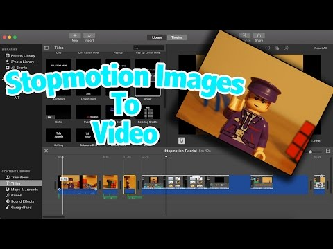 How to create stopmotion in iMovie & Photoshop