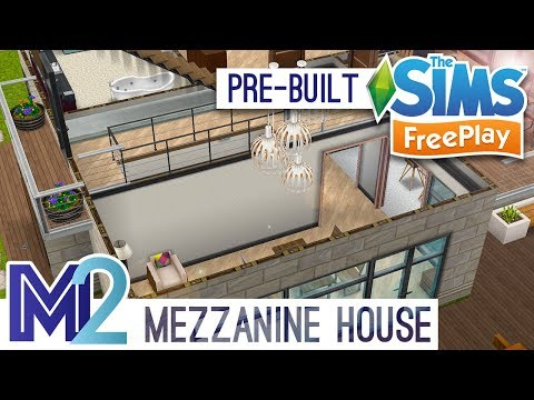 Sims FreePlay - Mezzanine House Template (Early Access Preview)