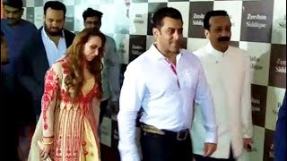 Salman khan and Lulia Vantur at Baba Siddique