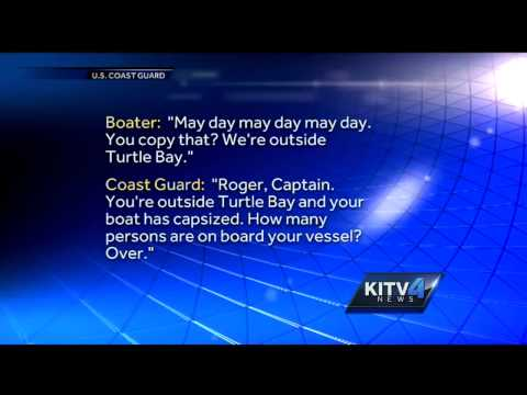 Coast Guard releases mayday call of capsized boat off Oahu's North Shore