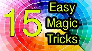 Easy Magic Tricks 15 tricks REVEALED / EXPLAINED