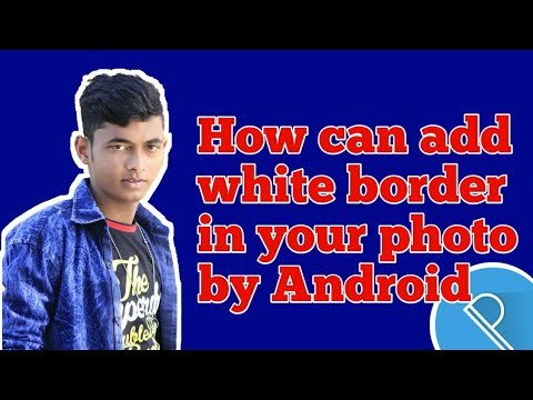 How can add white border in your photo without picsart - Pixelab tutorial