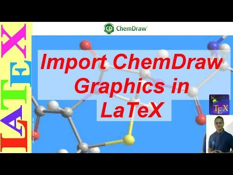 How to Import ChemDraw Graphics/Drawing to LaTeX (LaTeX: Tips/Solution-20)