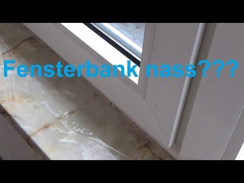 Wassereinbruch am Fenster Ablauf Fensterrahmen reinigen Wasserablauf säubern