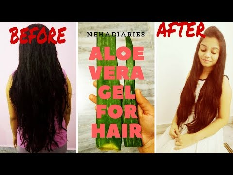 How to Remove Dandruff and make your hair grow faster overnight || Aloe Vera || Nehadiaries ||