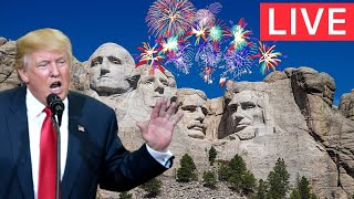 🔴LIVE: President Trump hosts America's birthday 4th of July Celebration Speech at Mount Rushmore
