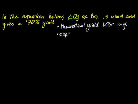 13 Solve Problems On Theoretical Experimental And Percentage Yield Sl
