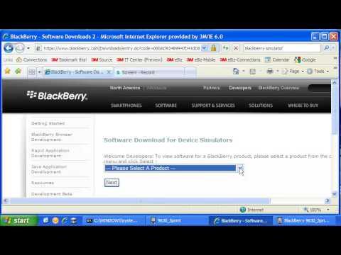 BlackBerry simulator installation video
