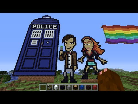 Doctor Who (11th Doctor), Amy Pond and the TARDIS Minecraft Build