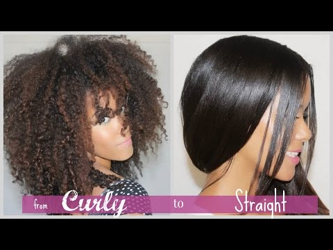 Curly to Straight | How I straighten my natural, curly hair