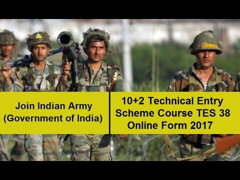 Indian Army 10+2 TES 38 Online Form 2017