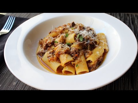Pasta alla Genovese - Rigatoni with Genovese-Style Meat Sauce