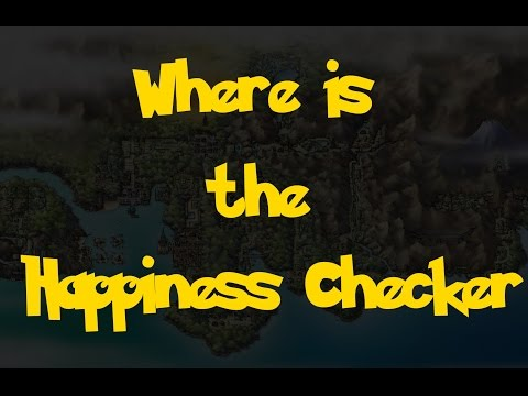 Where Is: The Happiness Checker (Pokemon Heart Gold/Soul Silver)