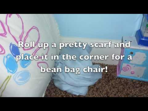 How to Make an American Girl Doll Bedroom on your Floor