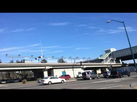Chemtrails over Oracle Arena & Colloseum Bart