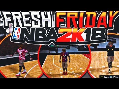 NBA 2K18 •FRESH FRIDAY! | BEST OUTFITS AND DESIGNER CLOTHES! | HOW TO GET FREE SHOES!!