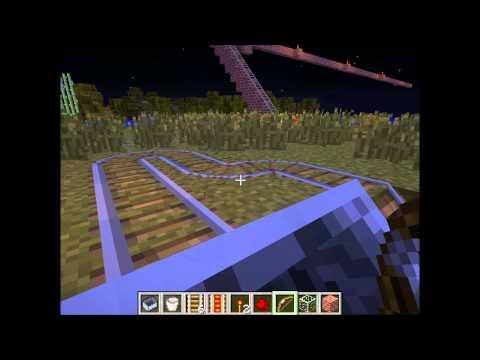 Minecraft roller coaster / Minecoaster Minecart, Creative Mode, Amazing