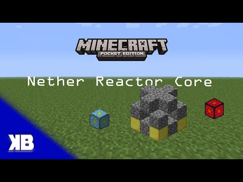 Minecraft PE - How to use the Nether Reactor Core [TUTORIAL] - Updated!