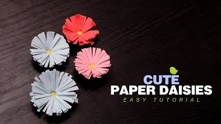Diy crafts how to make paper daisies easy paper flowers tutorial diy crafts how to make paper daisies easy paper flowers tutorial for kids mightylinksfo