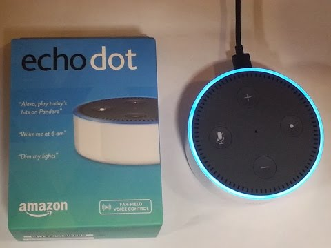 Amazon Echo Dot 2nd Generation - Unboxing and Test -- Speak Your Request to Alexa